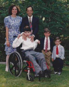 The Wien family pictured on the occasion of Brian's bar mitzvah